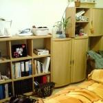 Raumteiler und Schränkchen